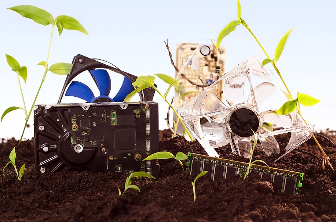 Electronic waste does not simply decompose into the ground.