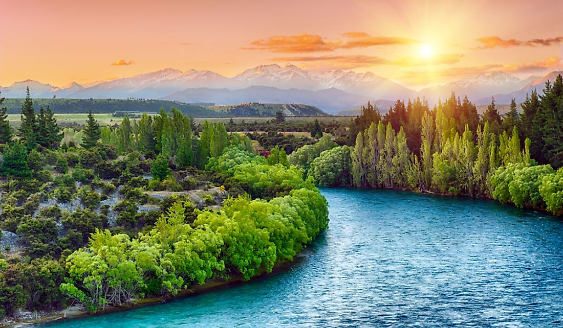 New Zealand is known for its breathtaking landscapes and turquoise waters.