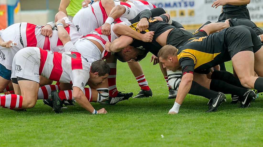 Rugby Union and Rugby League differ in many ways, including the number of players per side. Editorial credit: A_Lesik / Shutterstock.com
