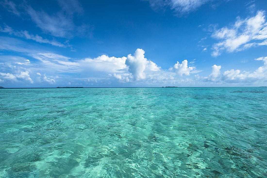The South Pacific is the least polluted of the world's oceans.