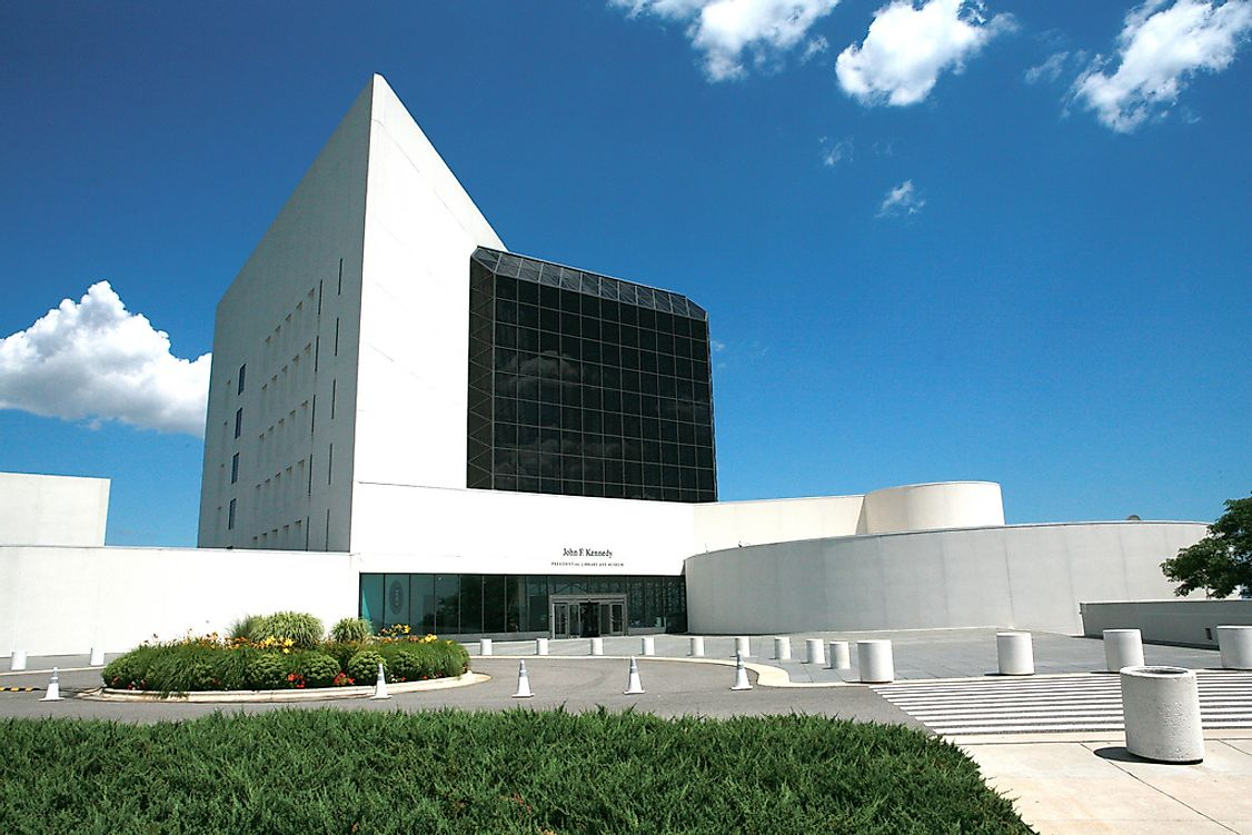 John F. Kennedy Presidential Library and Museum in Boston, US.