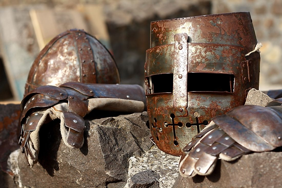 Typical armor used during the time of the crusades.