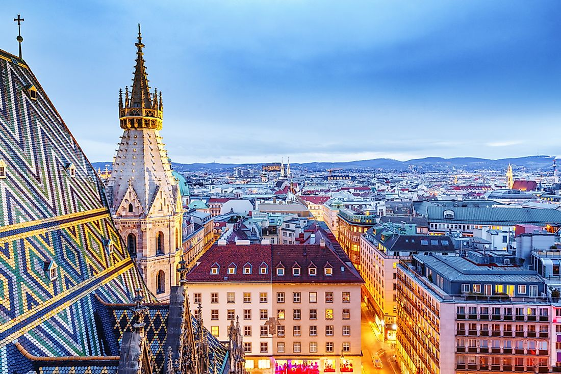 The colorful skyline of Vienna, Austria's capital and largest city.