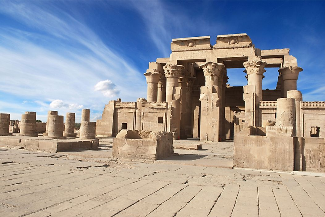 Ruins of the Temple of Kom Ombo.