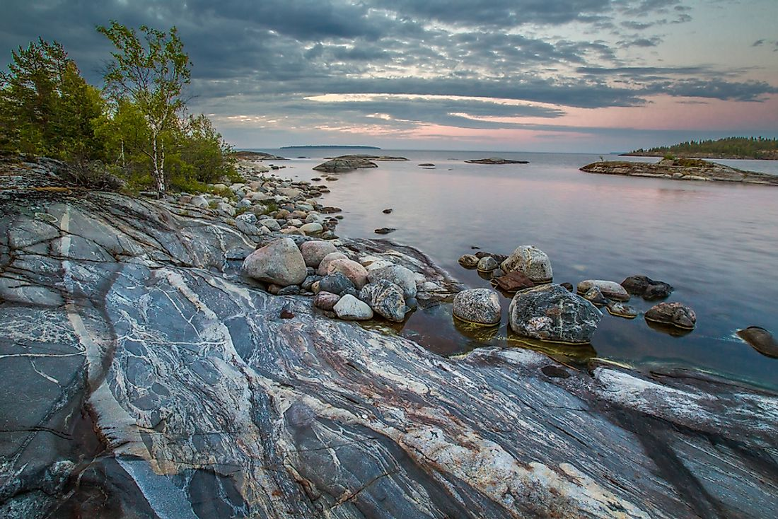 Lake Ladoga, in Karelia, is the largest lake found entirely within Europe.