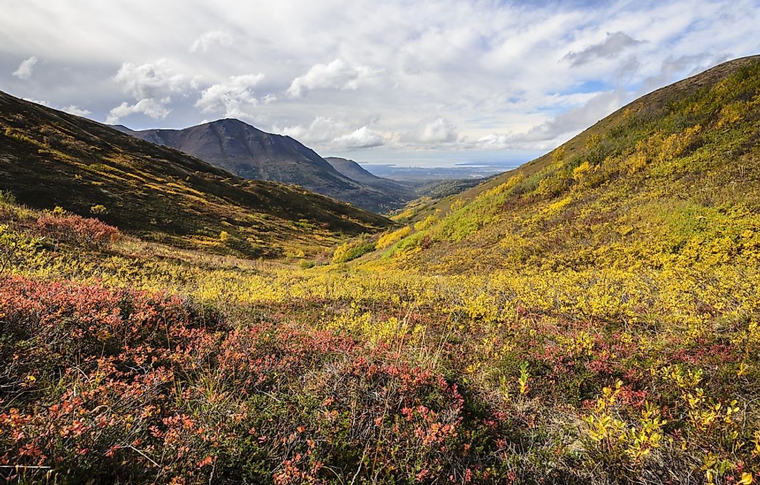 Chugach State Park is located mainly within the boundaries of Anchorage, Alaska.
