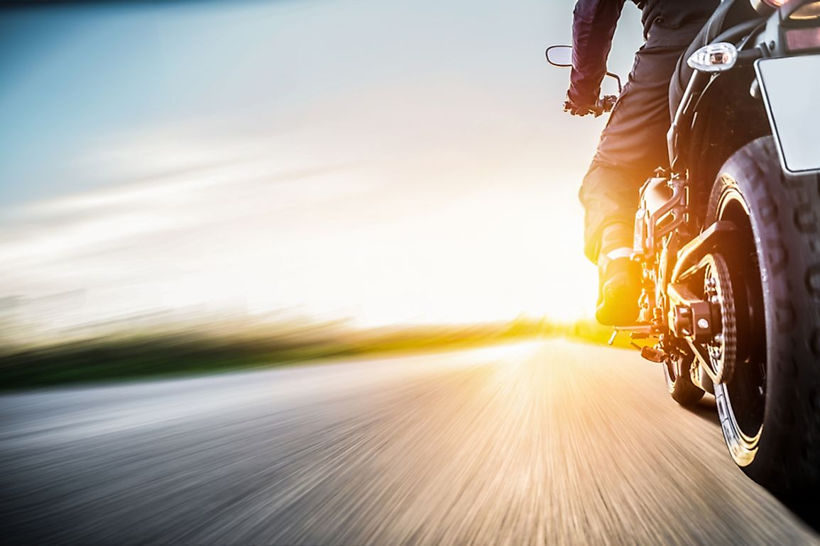 Scenic landscapes and climate are significant factors in driving motorcycle registrations in a given US state, along with total population, accessibility, and economy.