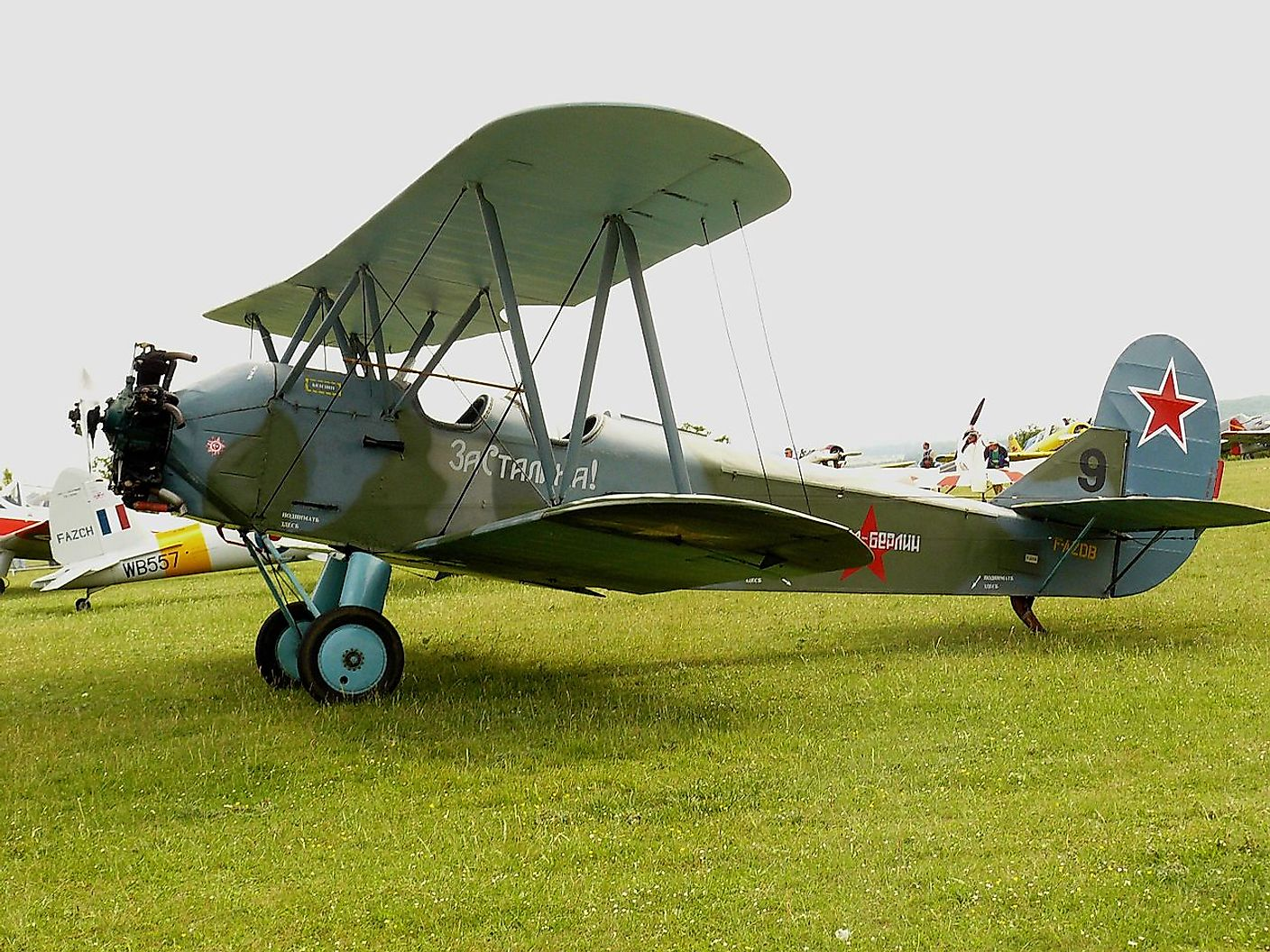 A Polikarpov Po-2, the aircraft type used by the all-women regiment of the Soviet Union.
