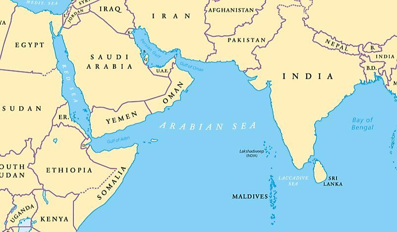 Which Countries Have Coastlines On The Arabian Sea Worldatlas