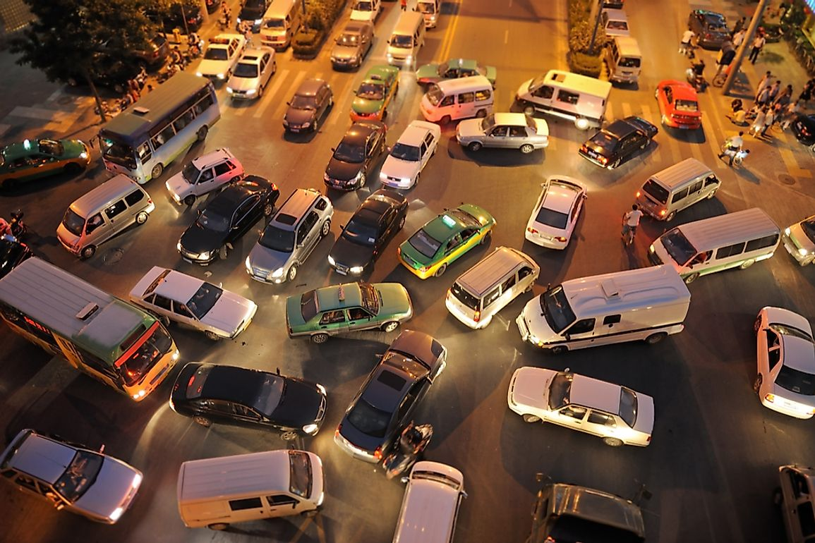 Sometimes, the traffic situation in China can be chaotic.