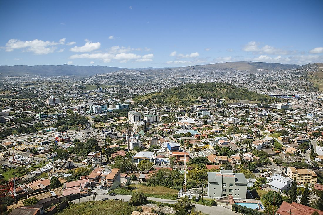 Tegucigalpa, the capital city of Honduras.