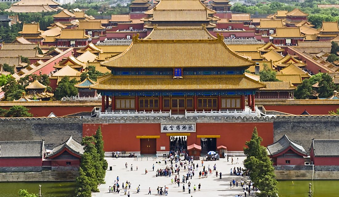 The Forbidden City is a palace complex in central Beijing, China.