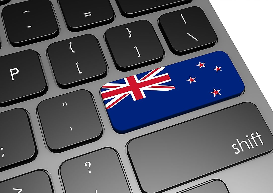 A keyboard featuring the flag of New Zealand.