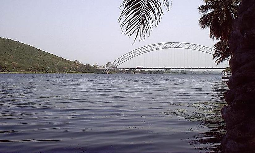 The Volta River in Ghana