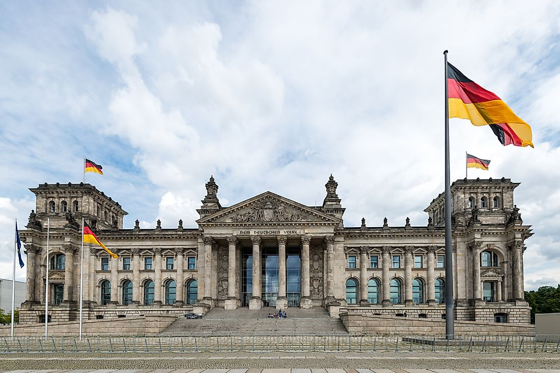 The Reichstag (seat of German parliament).