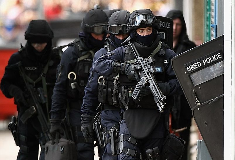 Scottish law enforcement officer with the Glasgow Police (pictured) have successfully reduced the notoriously high homicide rates in their city as of late.