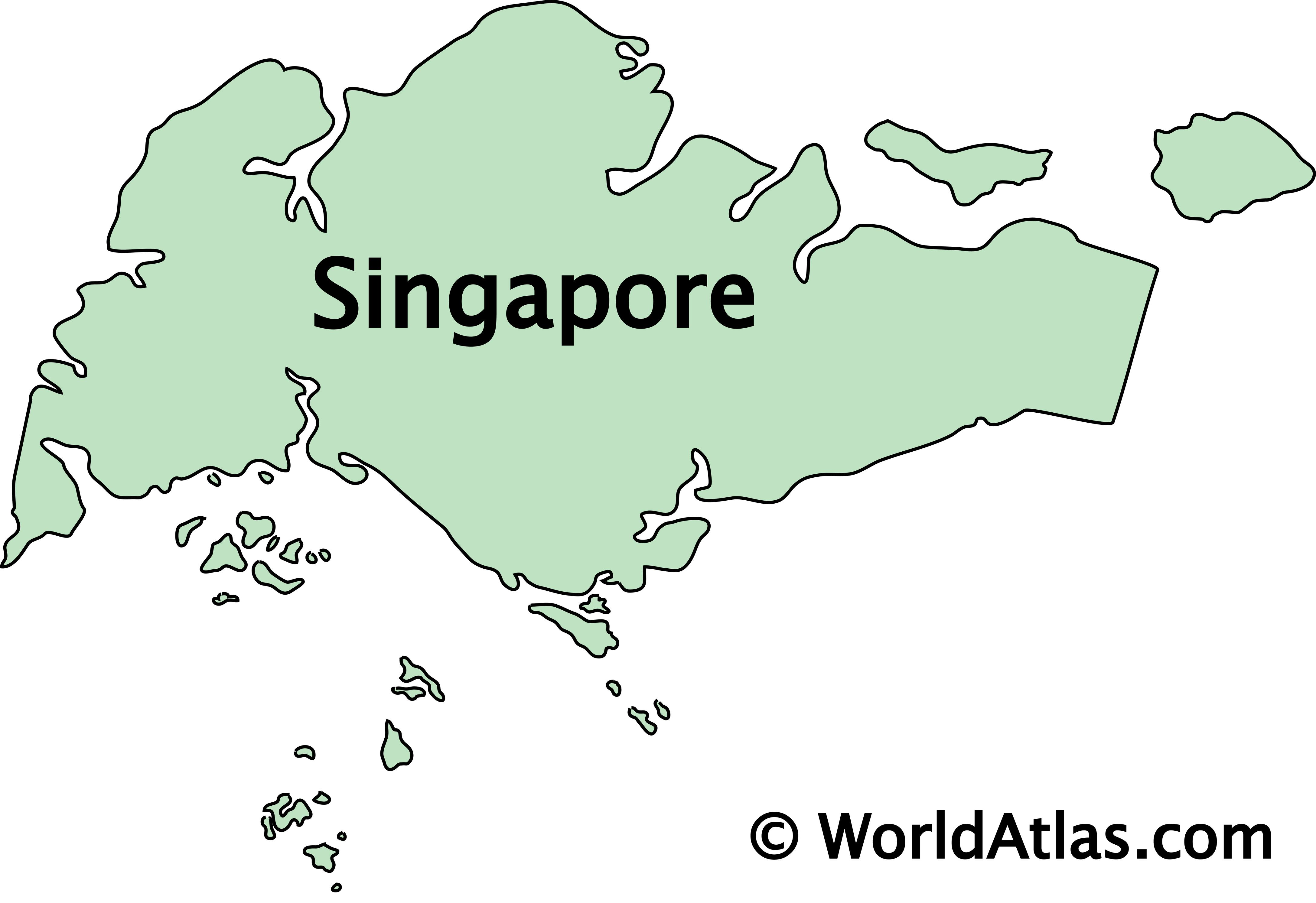 Outline Map of Singapore