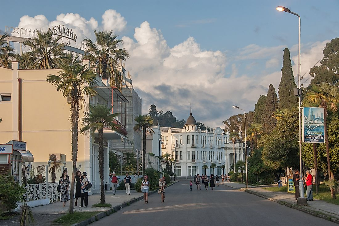 Sukhumi, the capital city of Abkhazia.  Editorial credit: Evgeny Shmulev / Shutterstock.com.