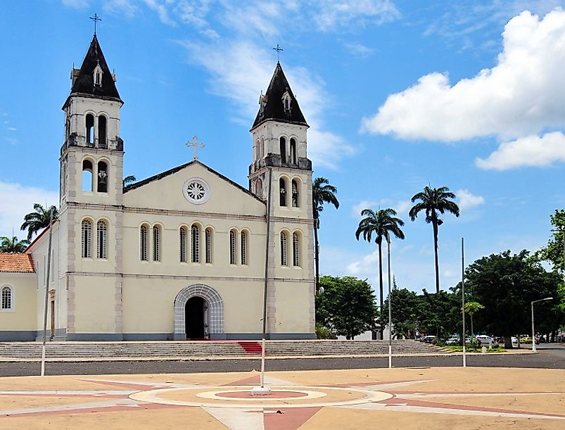 Our Lady of Grace Cathedral in Sao Tome and Principe's national capital city, Sao Tome, Portuguese for Saint Thomas.