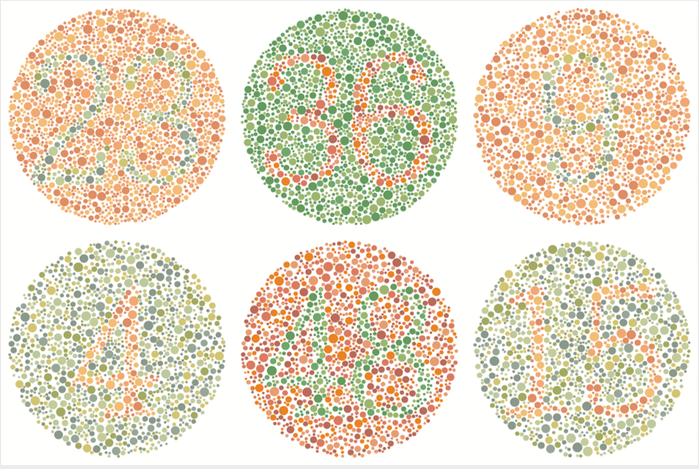 A test for color blindness. Image credit: LuckyBall/Shutterstock.com