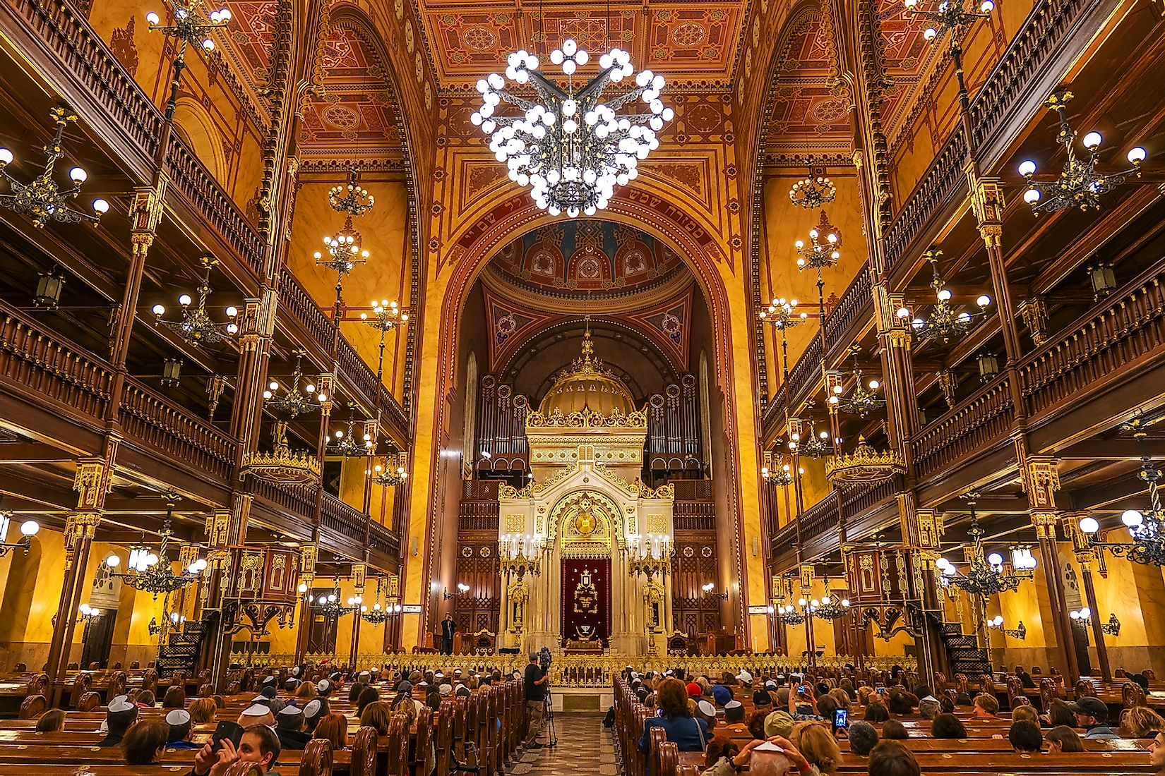 Interior of the Great Synagogue in Dohany Street, largest synagogue in Europe and the second largest in the world. Image credit: Ungvari Attila/Shutterstock.com