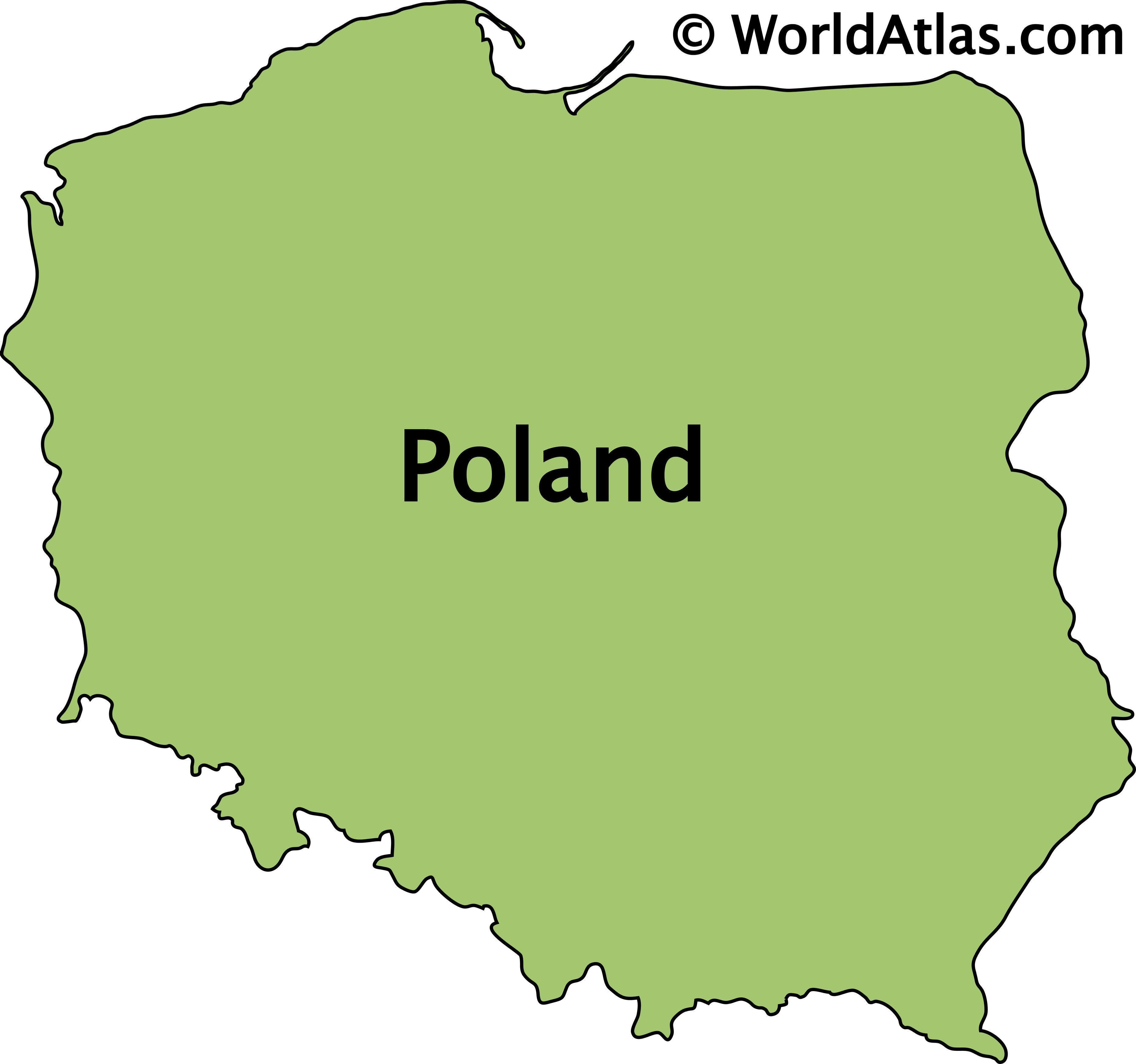 Outline Map of Poland