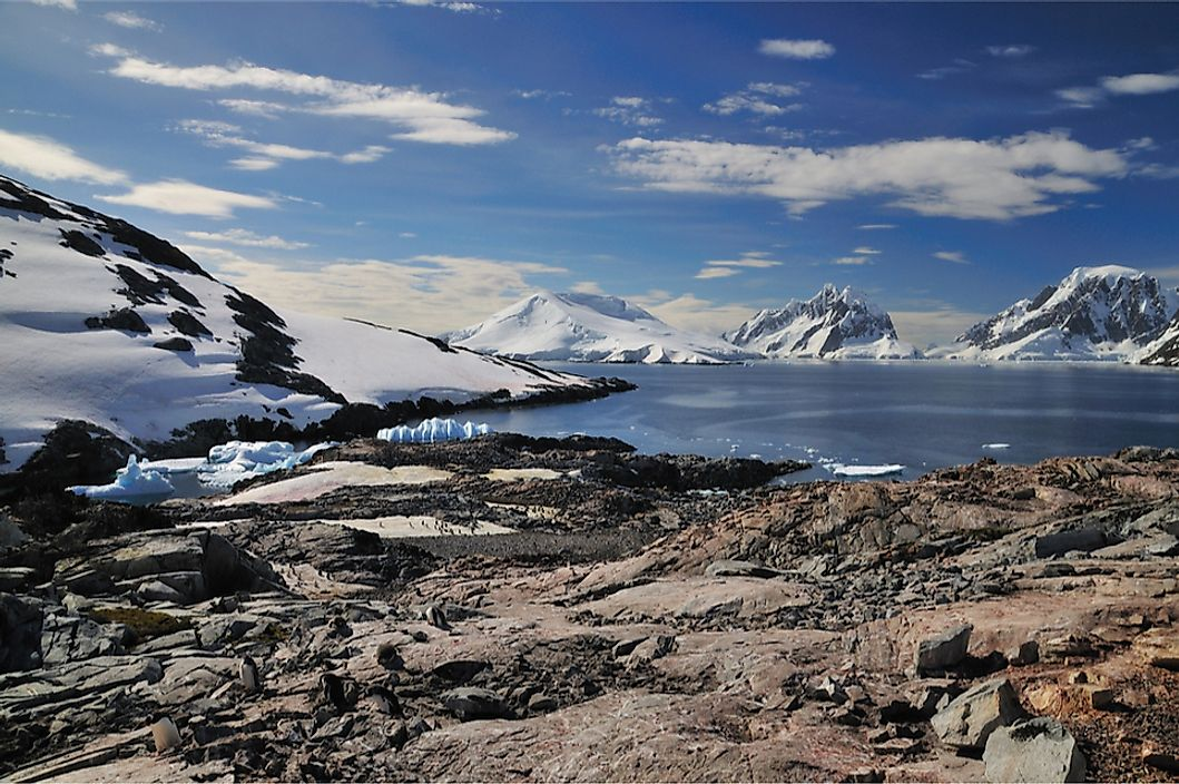 Many islands in Antartica are covered in ice and uninhabitable.