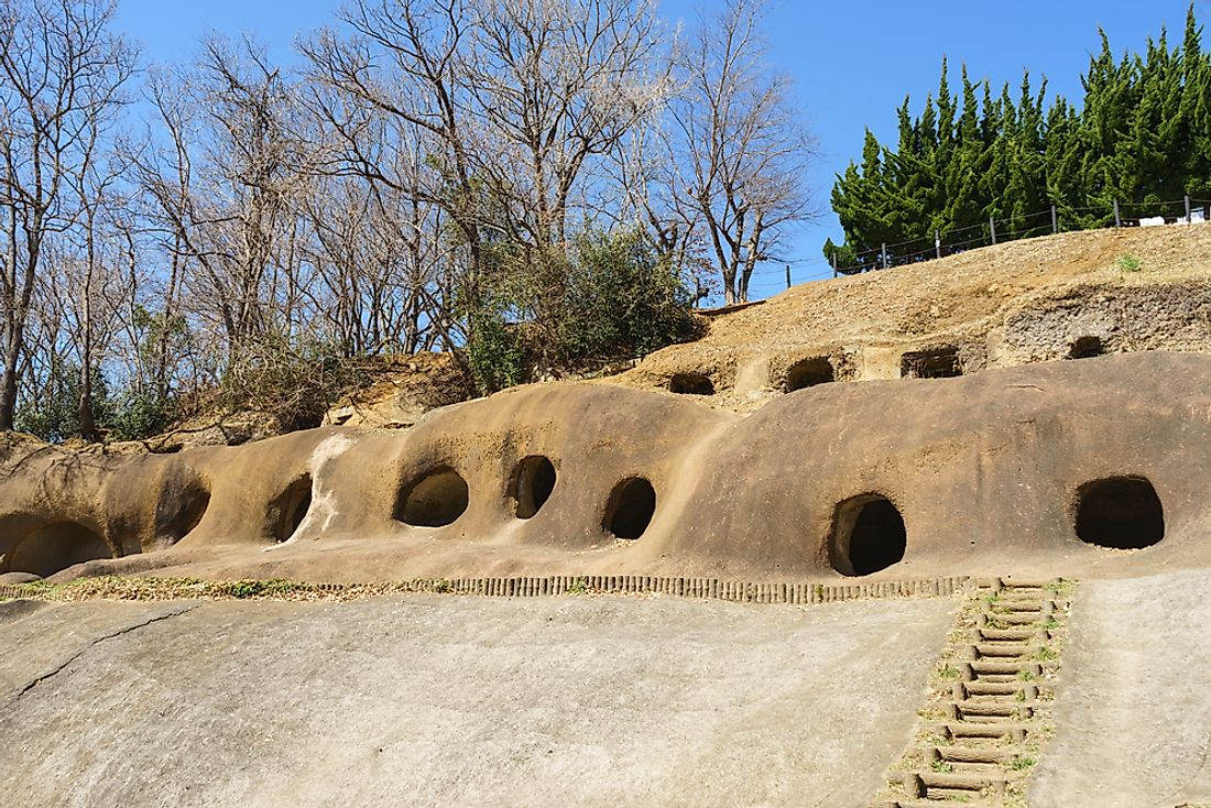 Historic tombs from the Kofun period, Japan.