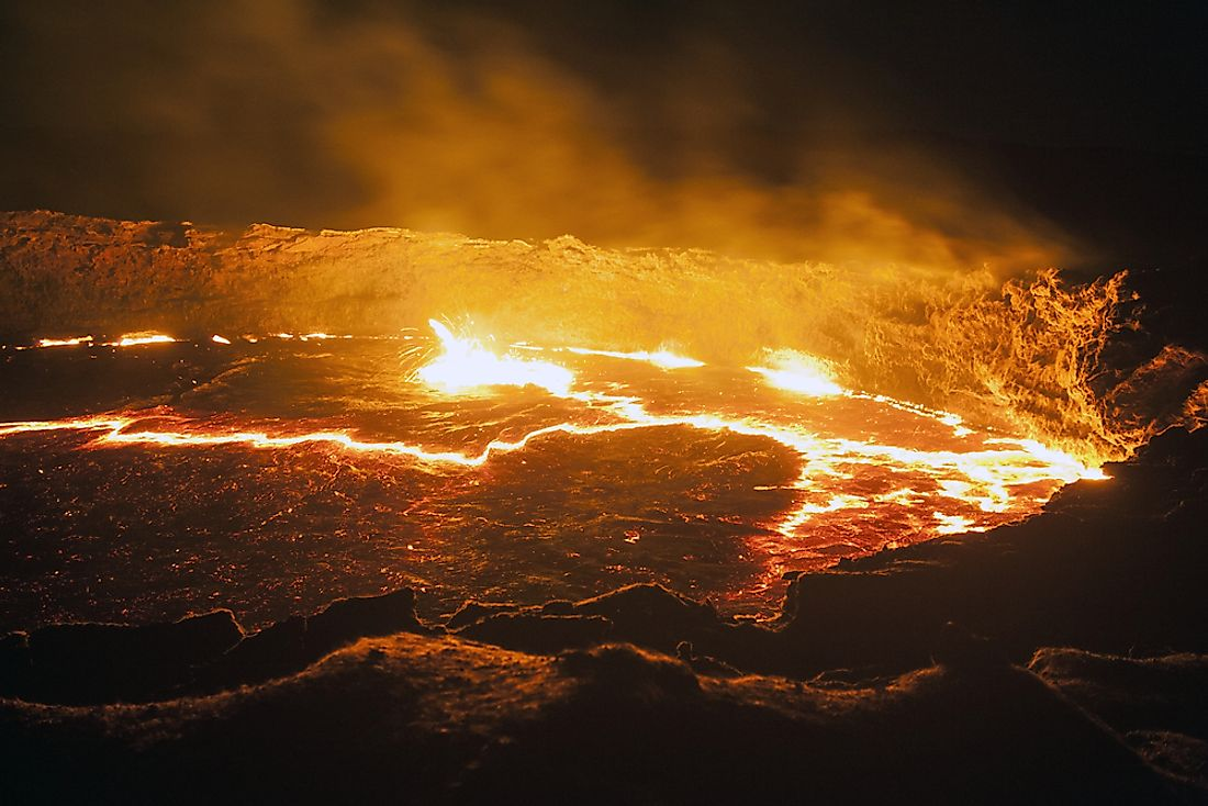 The lava lake of Erta Ale, Ethiopia
