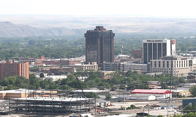 Downtown Billings, the biggest city in Montana.