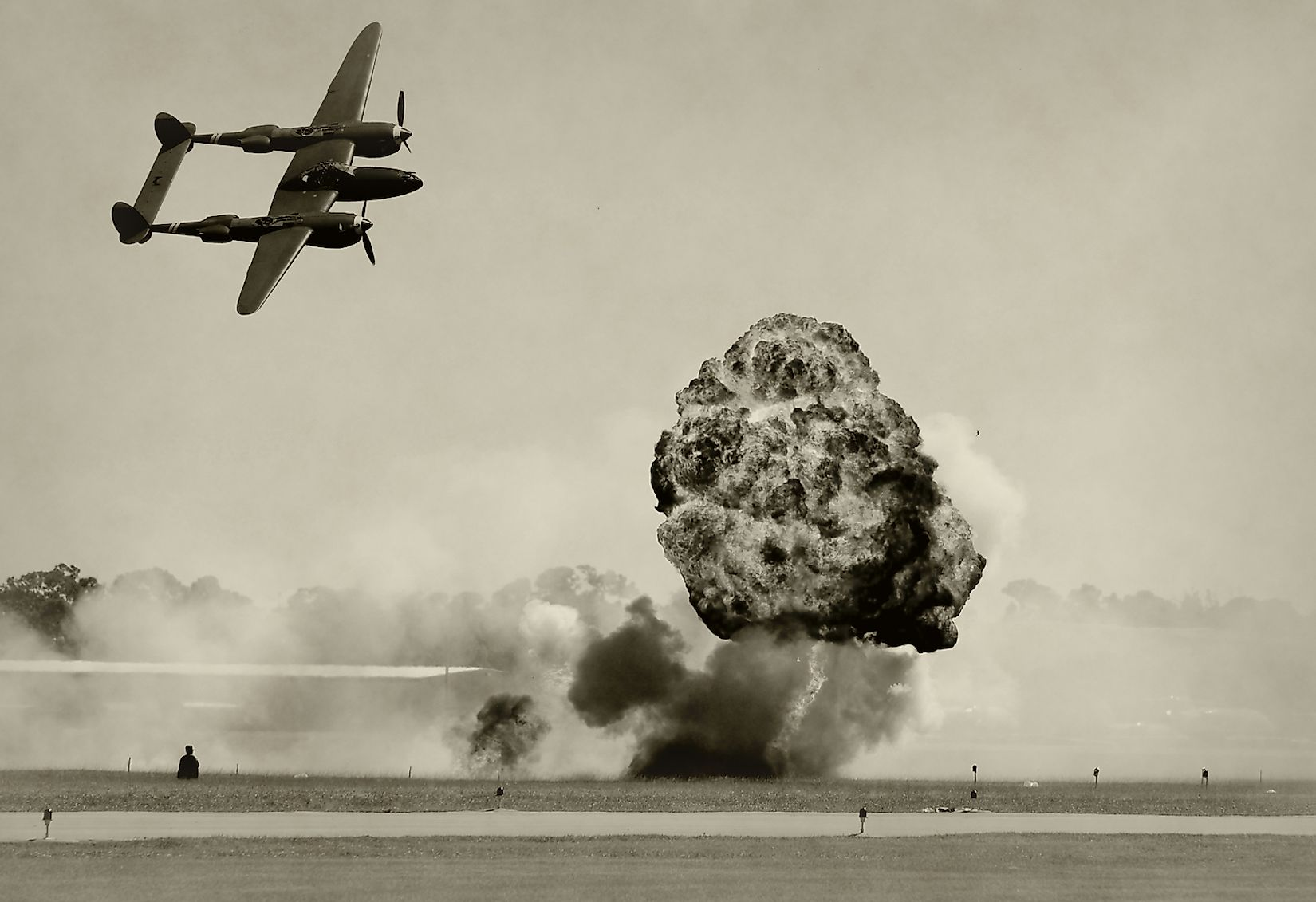 World War II era battle and bombing. Image credit: Ivan Cholakov/Shutterstock.com