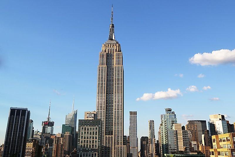 #4 Empire State Building, New York City - 1,250 Feet