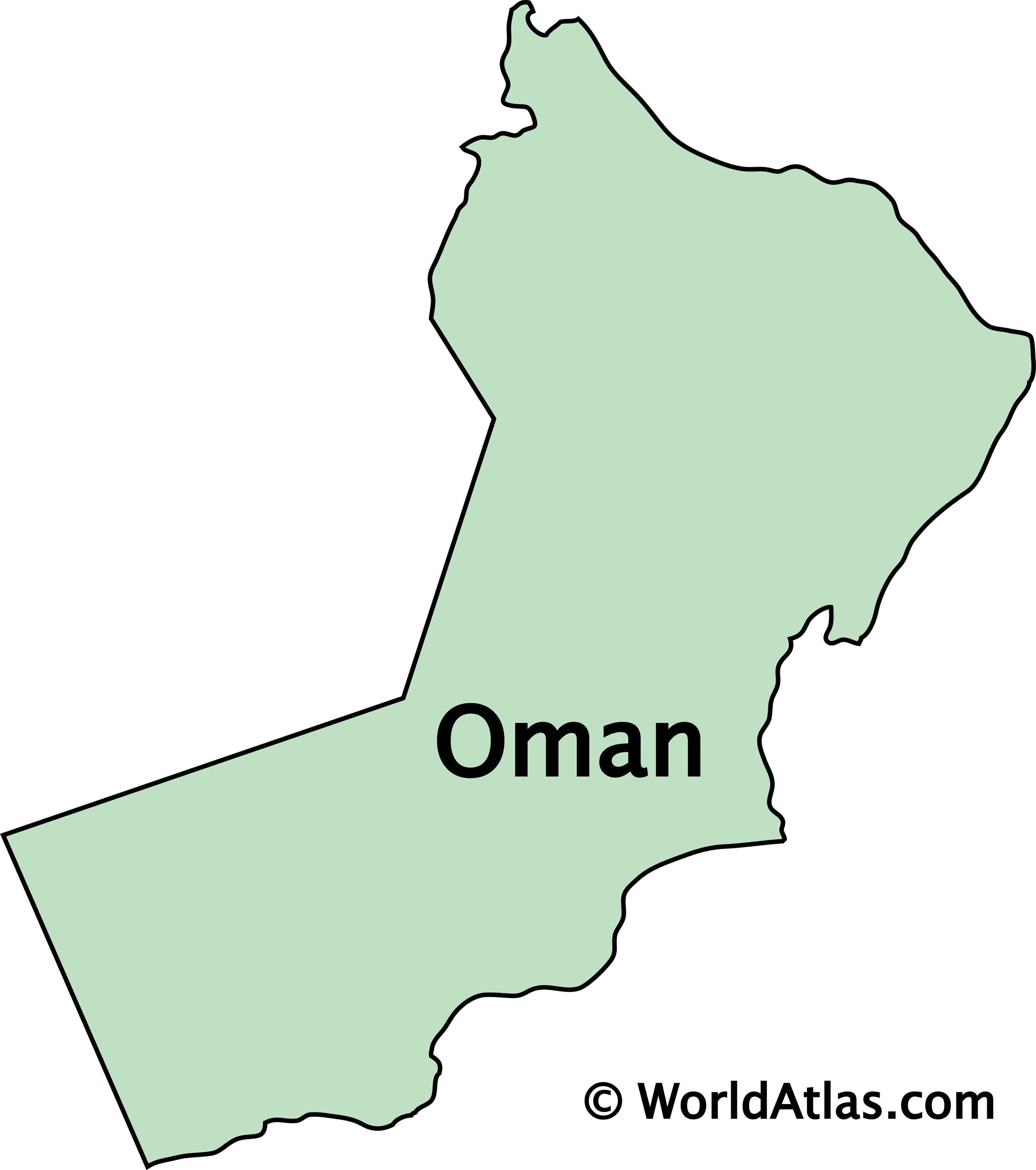 Outline Map of Oman