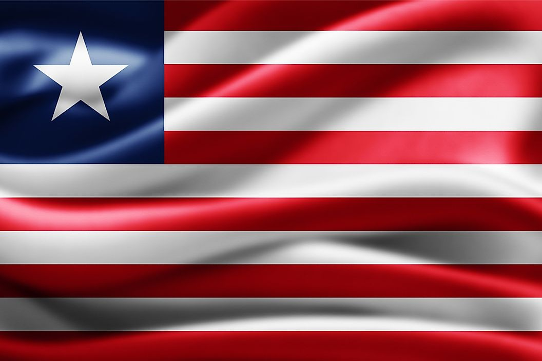 The flag of Liberia.