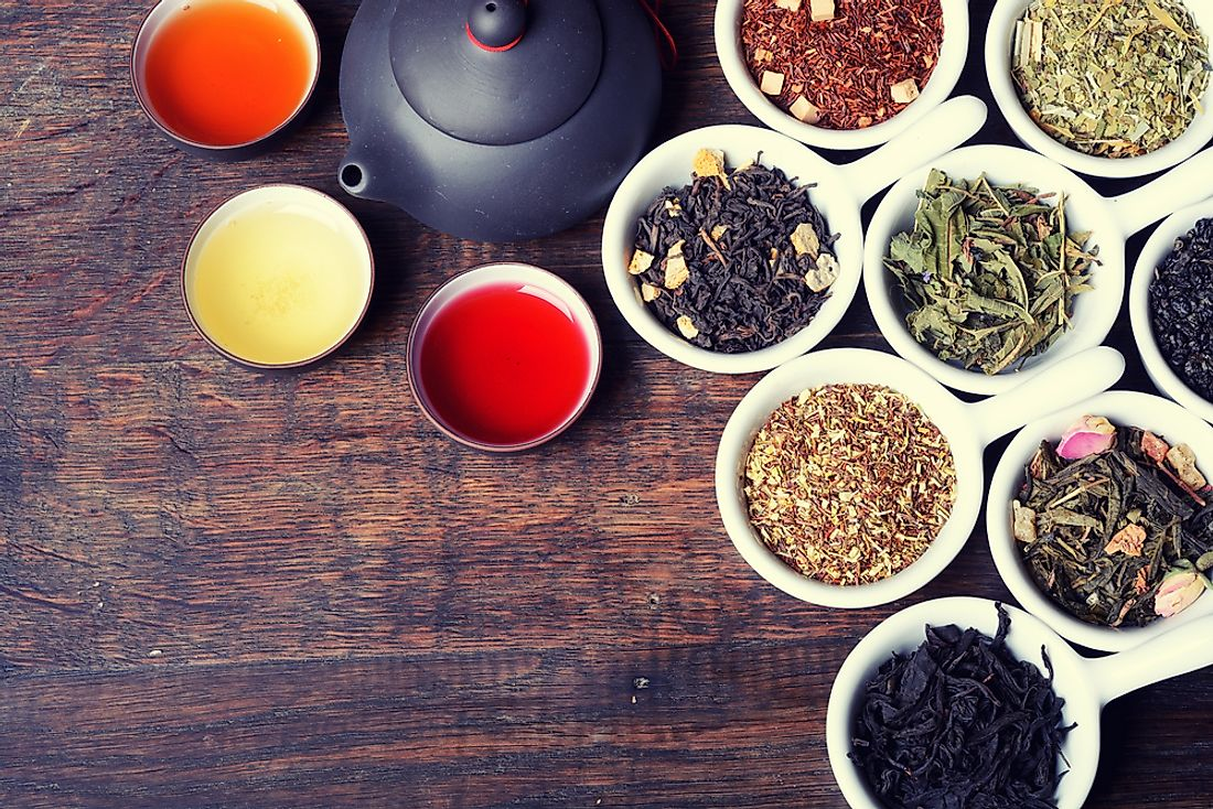 Multiple varieties of loose leaf tea are popular around the world.