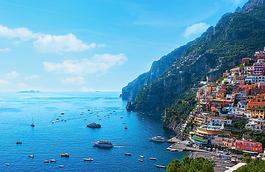 The Amalfi Coast is one of the UNESCO World Heritage Sites of Italy. Italy counts more UNESCO sites than any other country.