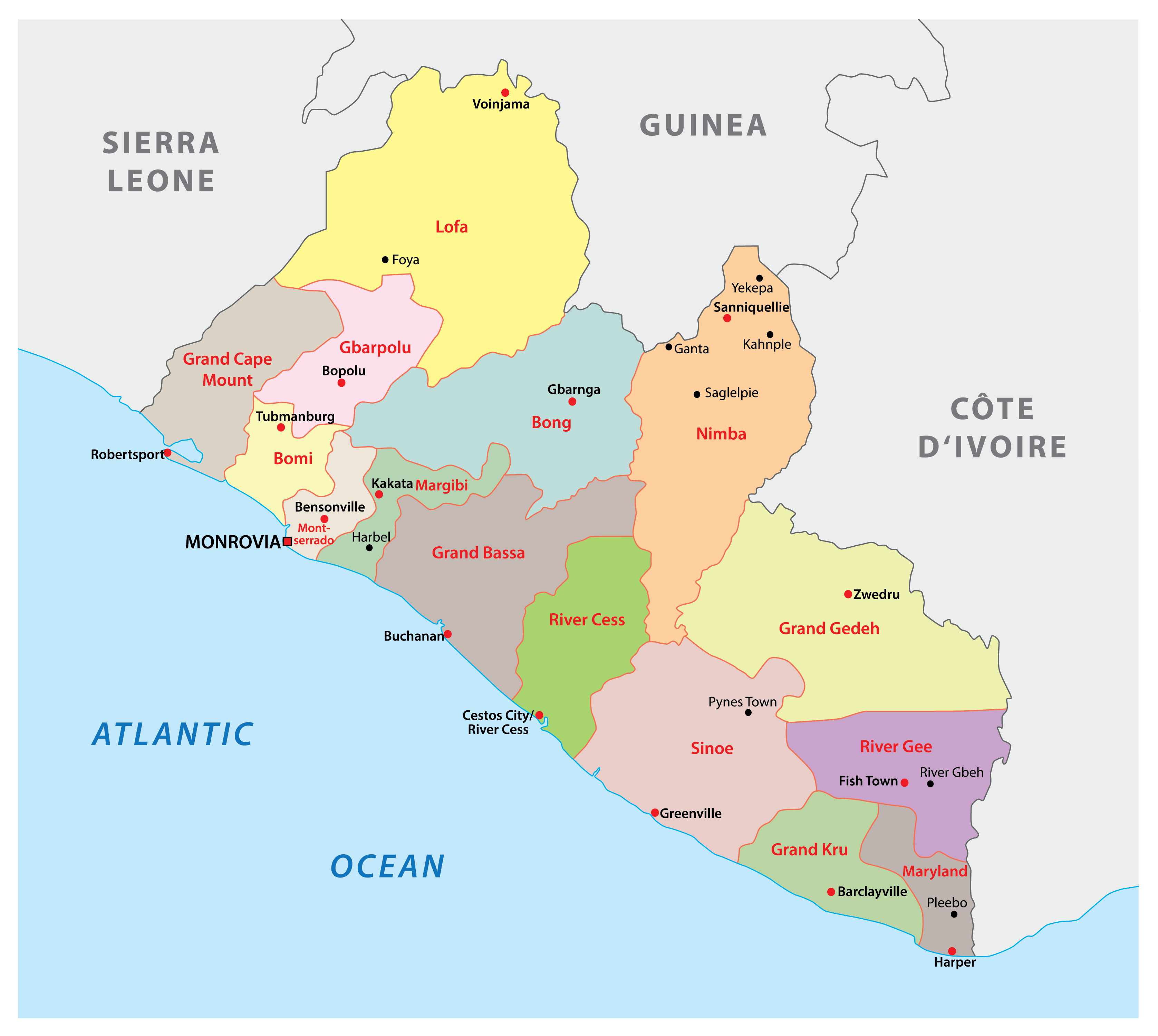 Picture of: Liberia Maps Facts World Atlas