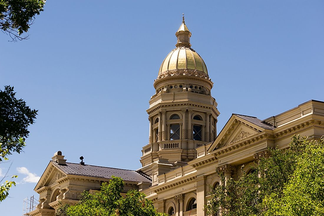 The State Capitol in Cheyenne, Wyoming.