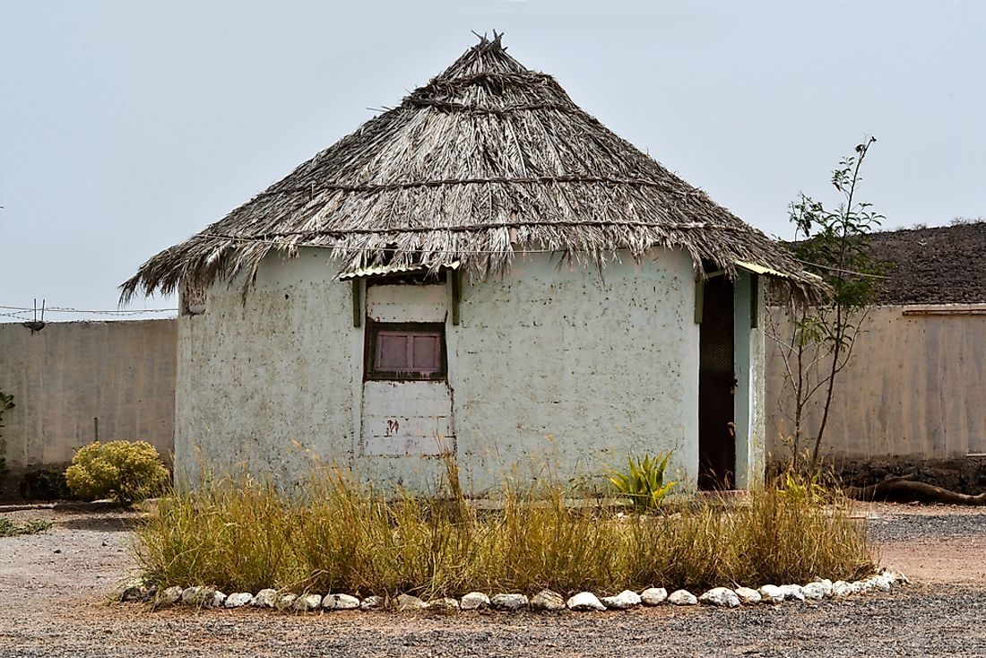 A traditional hut that belonged to the Afar people.