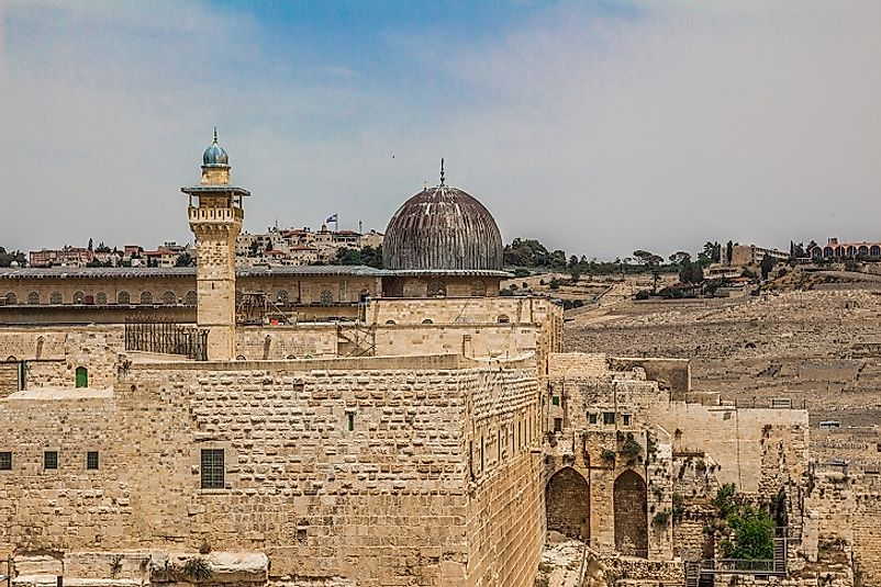 The Al-Aqsa Mosque within the Old City of Jerusalem.