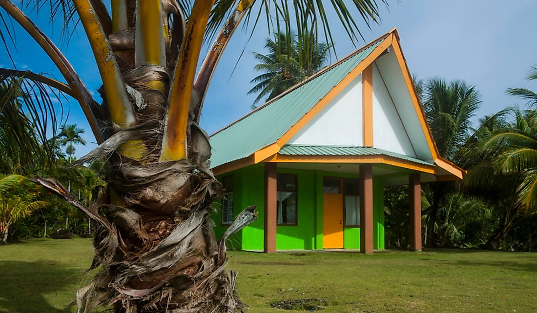 Church on Yap Island, Federated States of Micronesia.