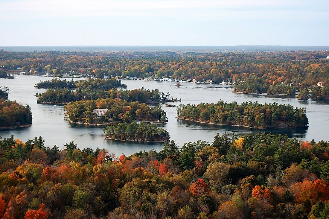 The Thousand Islands National Park in eastern Ontario, in fall.