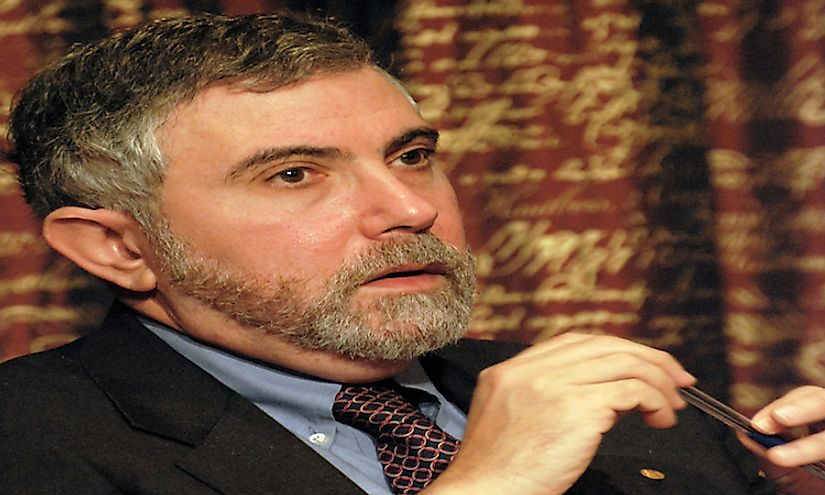 Paul Krugman an economist who has contributed significantly to the field of economic geography.