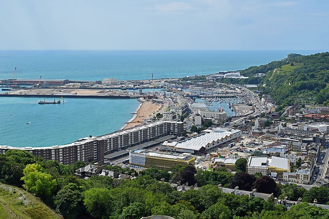 The Port of Dover, the busiest port in the United Kingdom.
