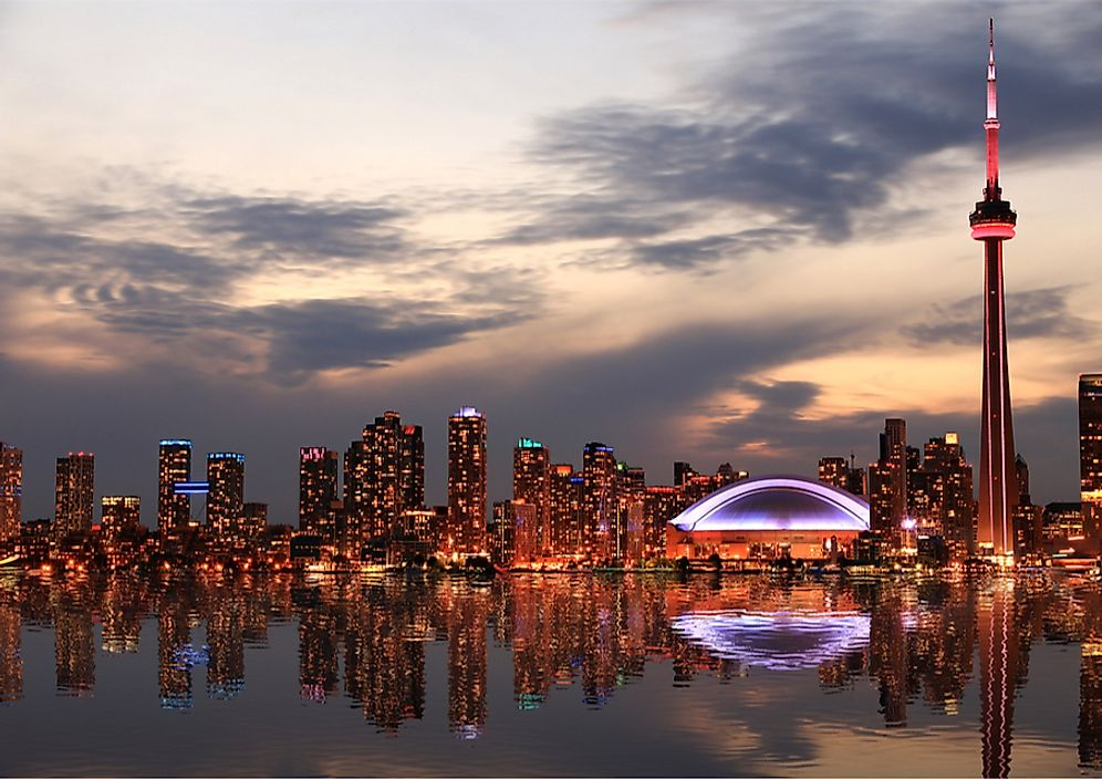 The skyline of Toronto, Ontario, Canada.