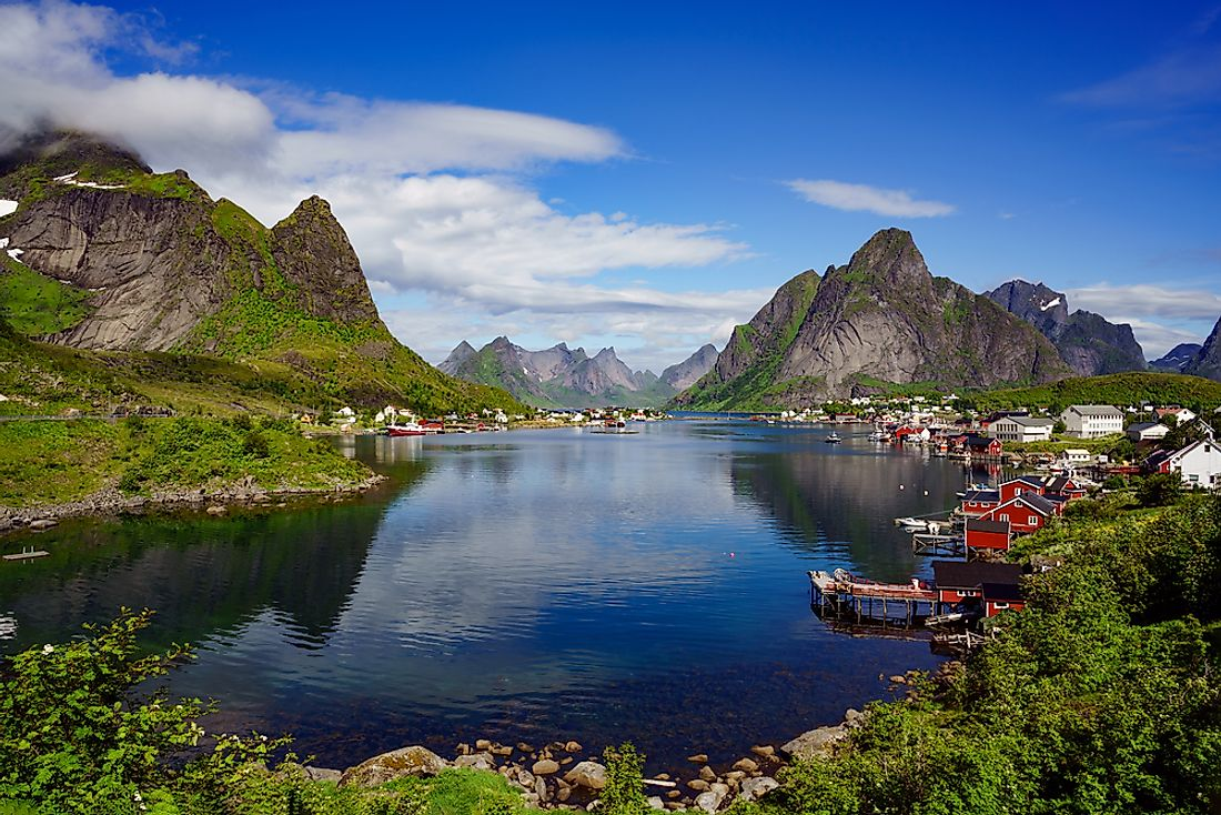 The Lofoten Islands of Norway.