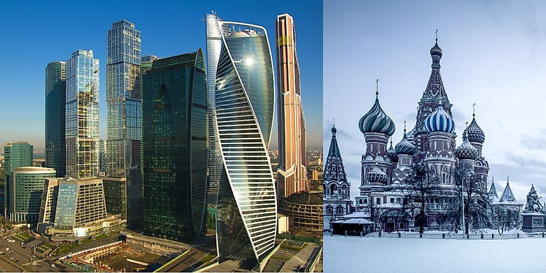 Russia Facts on Largest Cities Populations Symbols  Worldatlascom