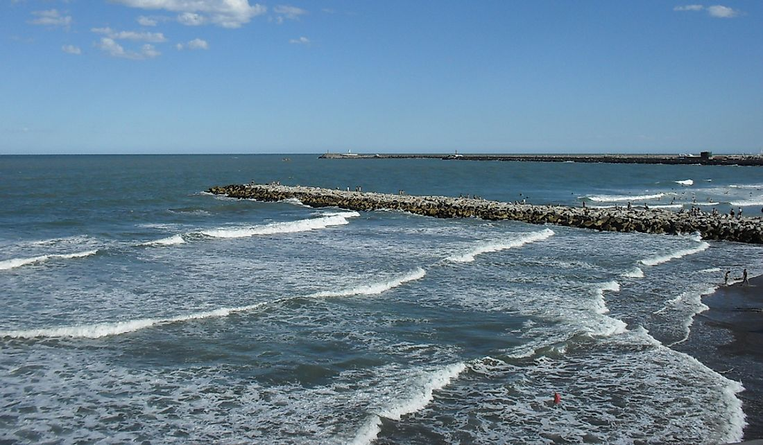 The Argentine Sea off the southeastern shores of the Argentine mainland.