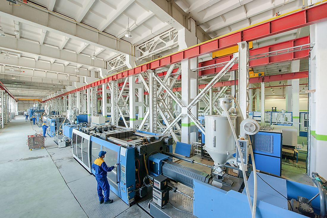 An industrial plant specializing in the production of plastic parts.