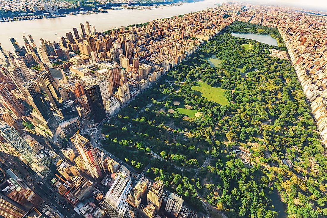 Central Park is perhaps the most famous of Olmsted's urban park designs.